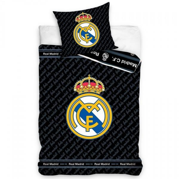 Carbotex Bavlnené obliečky Real Madrid Blue Letters, 140 x 200 cm, 70 x 90 cm