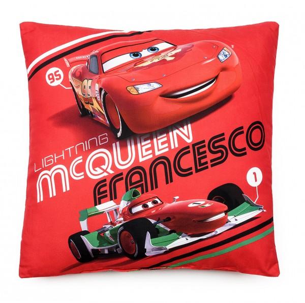 Jerry Fabrics Vankúšik Cars McQueen Francesco, 40 x 40 cm