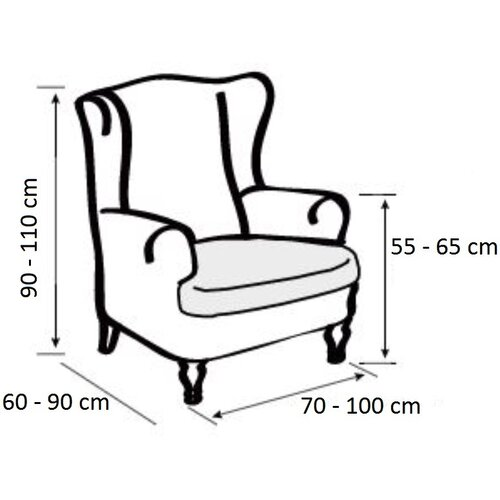 Forbyt Multielastický poťah na kreslo ušiak, bordová, 70 - 110 cm