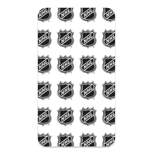 BedTex Bavlnené prestieradlo NHL Logo White, 90 x 200 cm