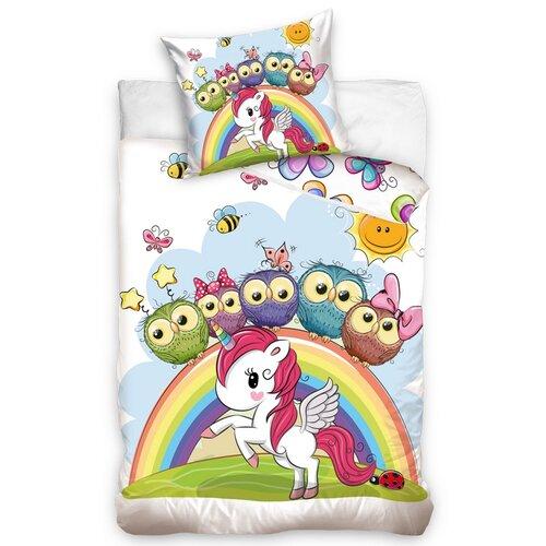 Carbotex Detské bavlnené obliečky do postieľky Unicorn, 100 x 135 cm, 40 x 60 cm