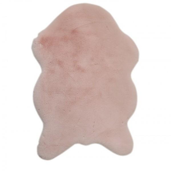 TEMPO KONDELA Umelá kožušina, ružová, 60x90, RABIT TYP 5