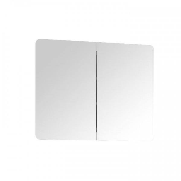 TEMPO KONDELA Otváracia skrinka so zrkadlom, biela extra vysoký lesk HG, na objednávku, LYNATET TYP 160