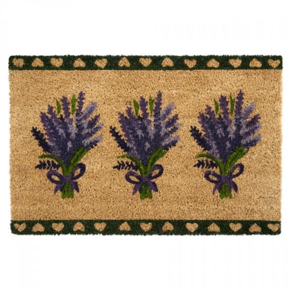 Tradec Concept Kokosová rohožka Levanduľa, tmavozelená,40 x 60 cm