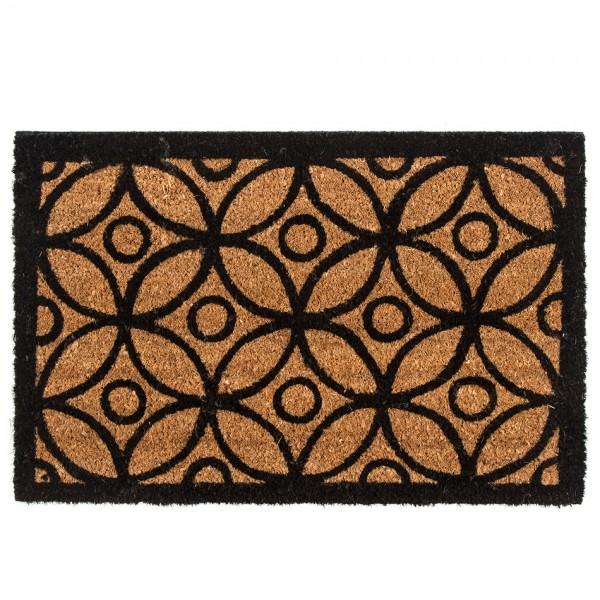 Home Elements Kokosová rohožka Kruhy, 40 x 60 cm