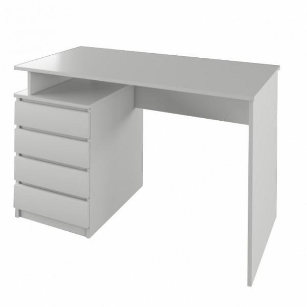 PC stôl, biela, HANY
