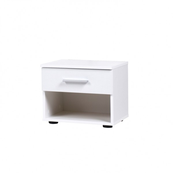 TEMPO KONDELA Nočný stolík (2ks), biela, IKOMO