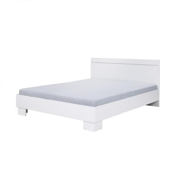 TEMPO KONDELA Posteľ 160x200, biela, IKOMO