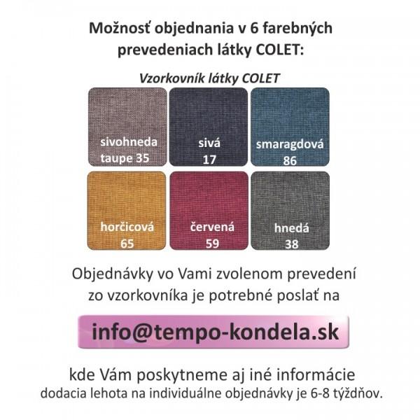 Boxpringová posteľ 120x200, mentolová, RIANA KOMFORT