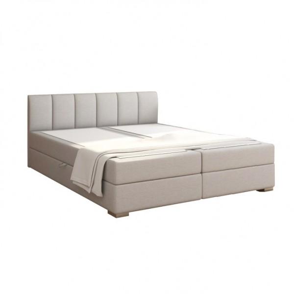 TEMPO KONDELA Boxpringová posteľ 180x200, svetlosivá, RIANA KOMFORT