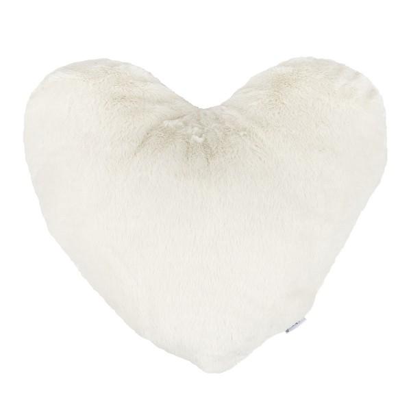 Altom Vankúšik Srdce krémová, 40 x 40 cm