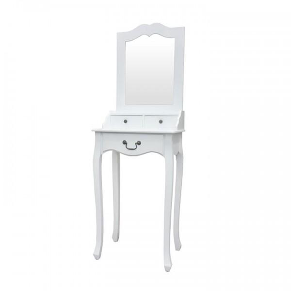 TEMPO KONDELA Toaletný stolík, toaletka, biela, GINO
