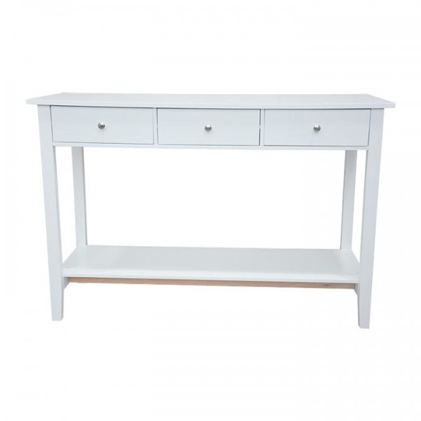 Konzolový stolík, biela, REDON