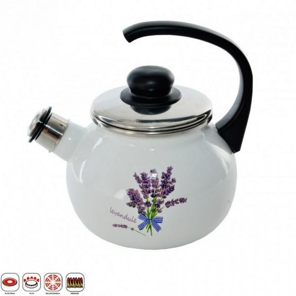 LEVAND Smaltovaný čajník s píšťalkou 1,75 l