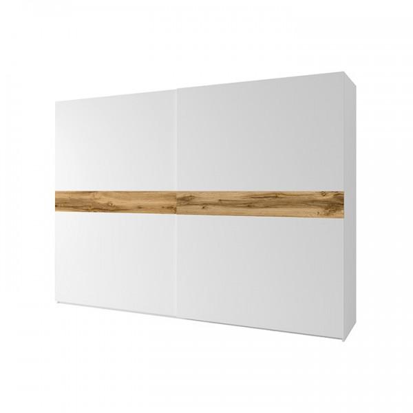 TEMPO KONDELA 2- dverová skriňa, biela/dub wotan, NAGAMA