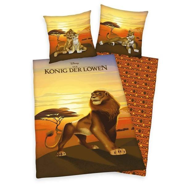 Herding Detské bavlnené obliečky Lion King, 140 x 200 cm, 70 x 90 cm