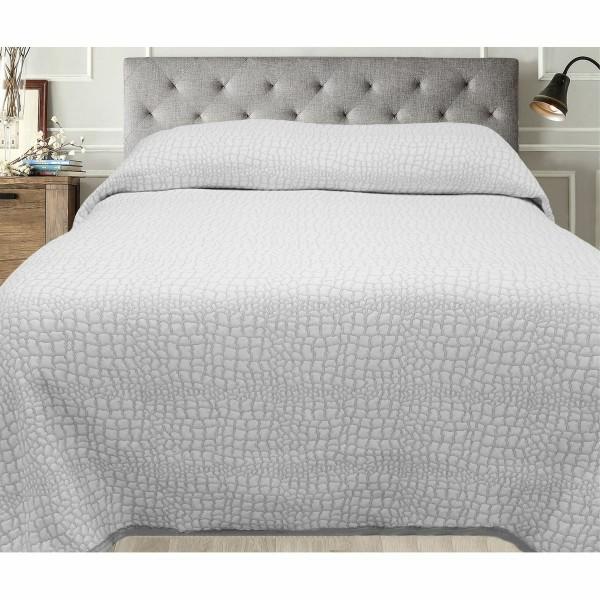 FORBYT Prehoz na posteľ Carson sivá, 140 x 220 cm