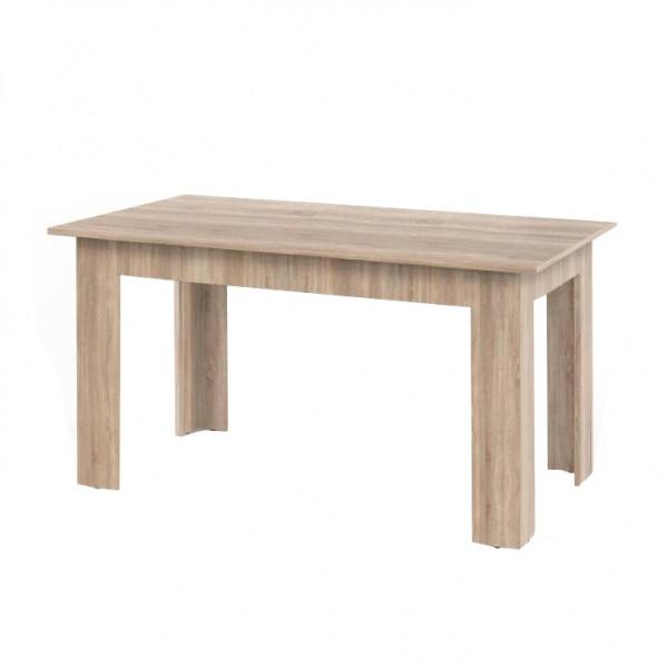 Jedálenský stôl, dub sonoma, 140x80, GENERAL