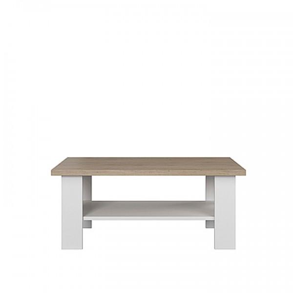 TEMPO KONDELA Konferenčný stolík, biela/dub kamenný, VERLA 110
