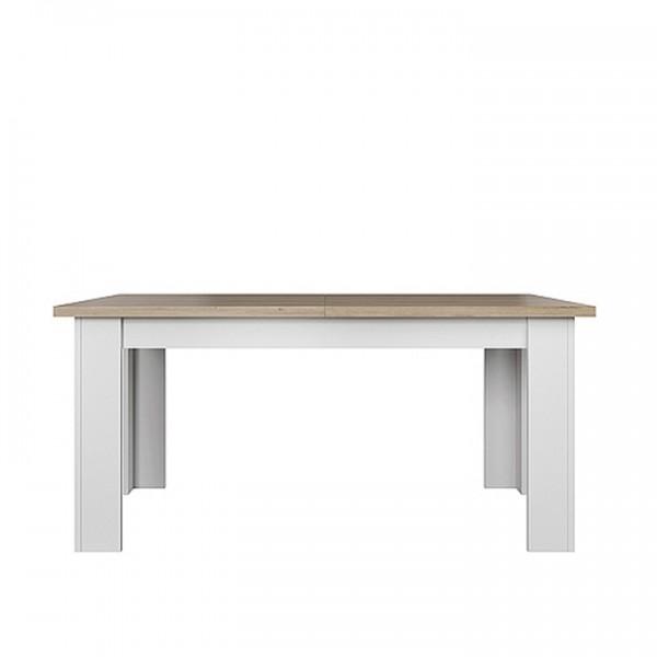 Jedálenský rozkladací stôl, biela/dub kamenný, VERLA 160/210