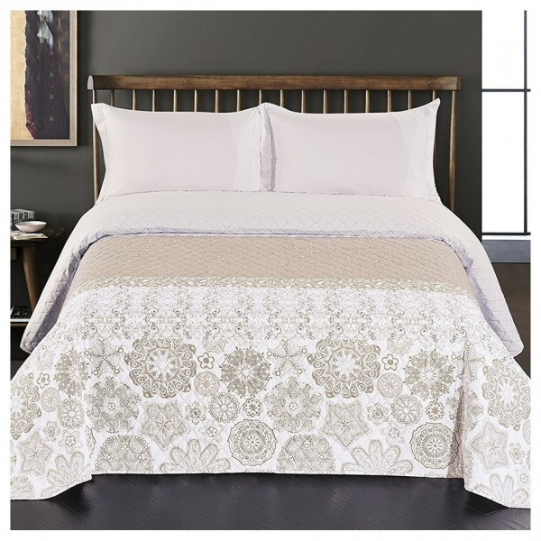 DecoKing Prehoz na posteľ Alhambra béžová, 220 x 240 cm