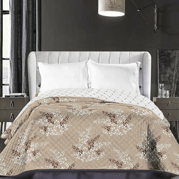 DecoKing Prehoz na posteľ Calluna hnedá, 220 x 240 cm