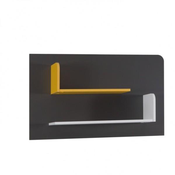 TEMPO KONDELA Polica B6, biela/sivý grafit/enigma/žltá, MATEL