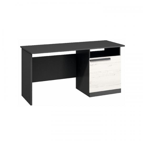 TEMPO KONDELA PC stôl, sosna andersen/sivá grafit, BEVERLY