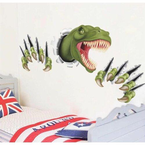 Samolepiaca dekorácia 3D Dinosaurus, zelená