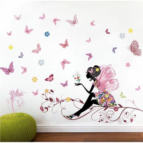 Samolepiaca dekorácia Motýliková víla, 120 x 80 cm