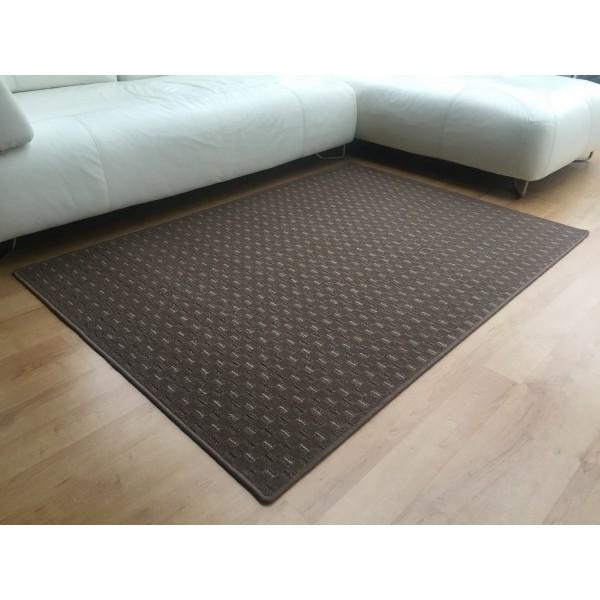 Vopi Kusový koberec Valencia hnedá, 80 x 150 cm