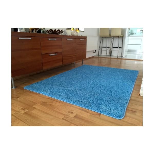 Vopi Kusový koberec Color shaggy modrá, 100 cm