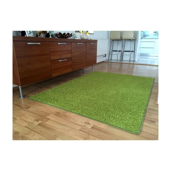Vopi Kusový koberec Color shaggy zelená, 80 x 150 cm