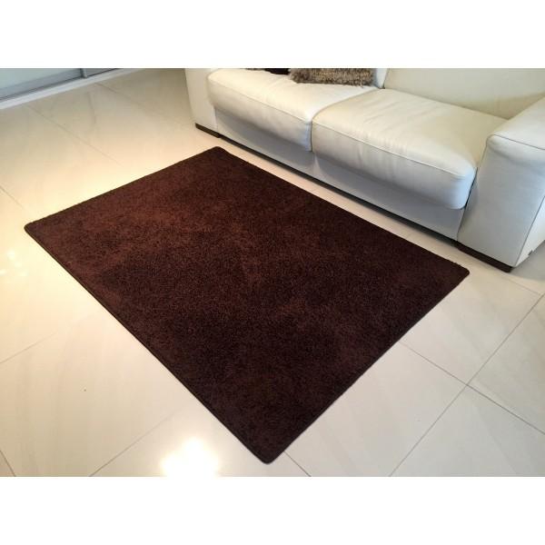 Vopi Kusový koberec Color shaggy hnedá, 80 x 150 cm