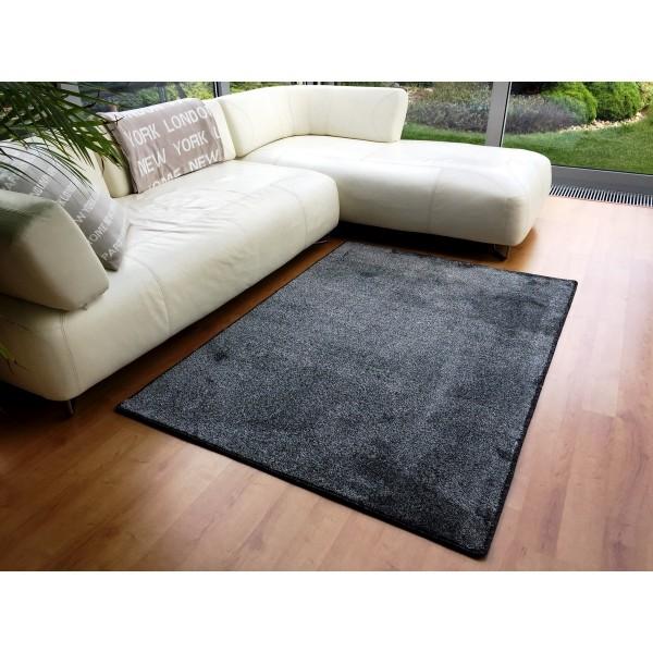 Vopi Kusový koberec Apollo soft antracit, 80 x 150 cm