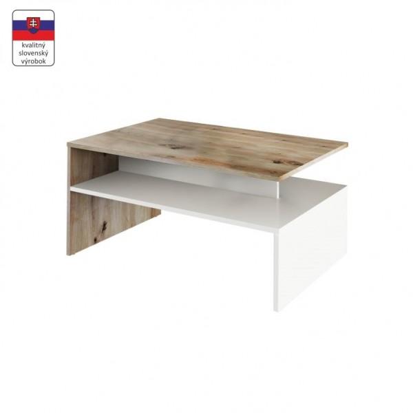 TEMPO KONDELA Konferenčný stolík, dub artisan/biela, DAMOLI