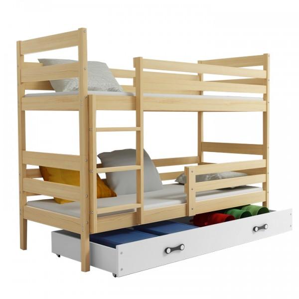 Poschodová posteľ, sosna/prírodná, 80x190, ADELA 2 NEW
