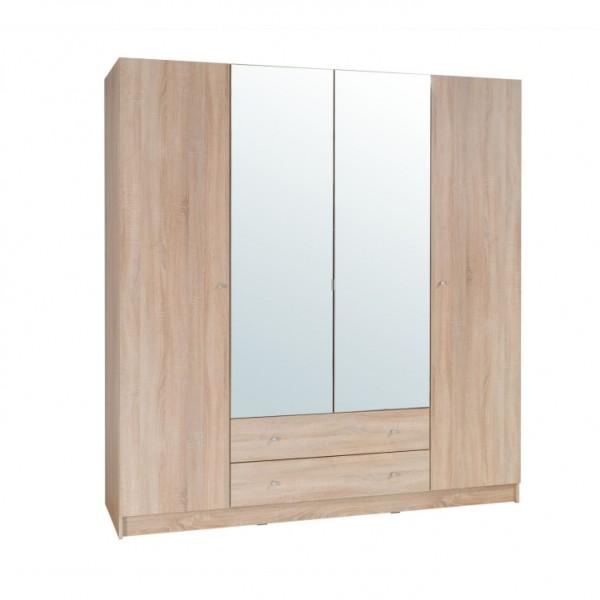 TEMPO KONDELA 4-dverová skriňa, dub sonoma, MEXIM