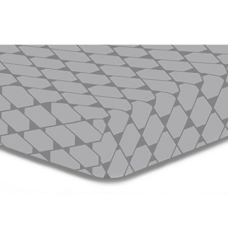 DecoKing Prestieradlo Rhombuses sivá S1, 160 x 200 cm