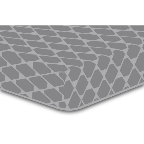 DecoKing Prestieradlo Rhombuses sivá S2, 90 x 200 cm