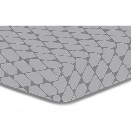 DecoKing Prostěradlo Rhombuses sivá S1, 90 x 200 cm