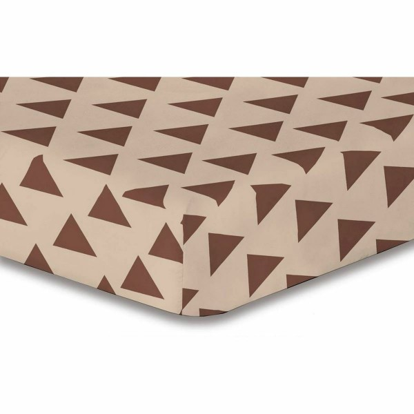 DecoKing Prestieradlo Triangles hnedá S1, 160 x 200 cm