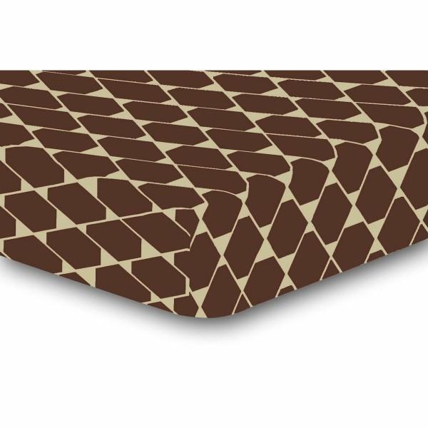 DecoKing Prestieradlo Rhombuses hnedá S2, 90 x 200 cm