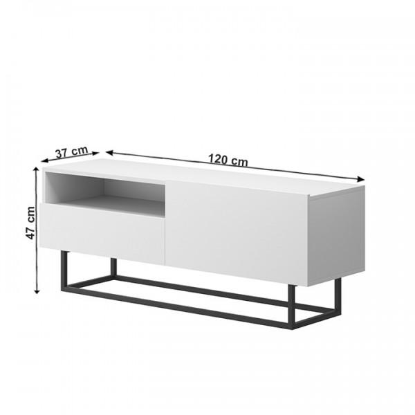 TEMPO KONDELA RTV stolík bez podstavy, biela, Spring ERTVSZ120