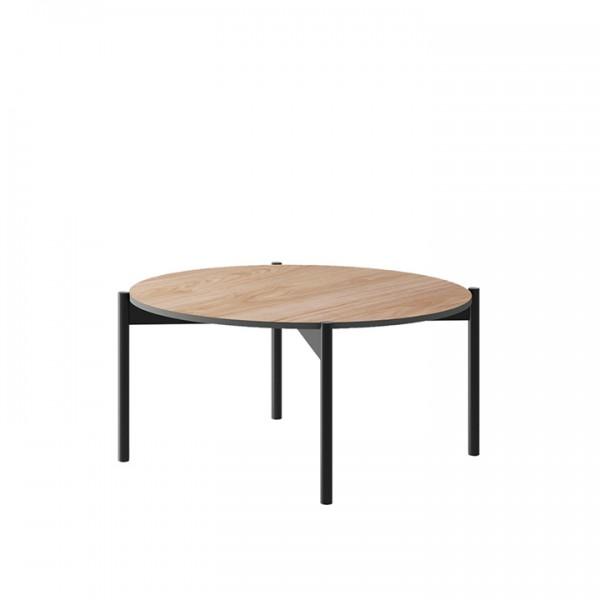 TEMPO KONDELA Konferenčný stolík, dub jaskson hickory/grafit, BERGEN BL86