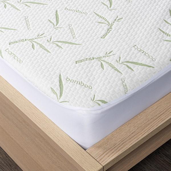 home Bamboo Nepriepustný chránič matraca s lemom, 90 x 200 cm