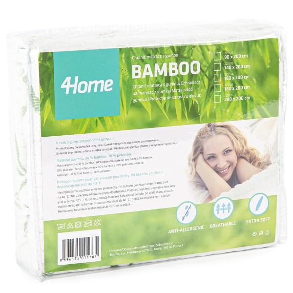 4Home Bamboo Chránič matraca s gumou, 160 x 200 cm