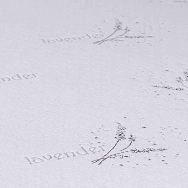 4home Lavender Chránič matraca s lemom, 90 x 200 cm