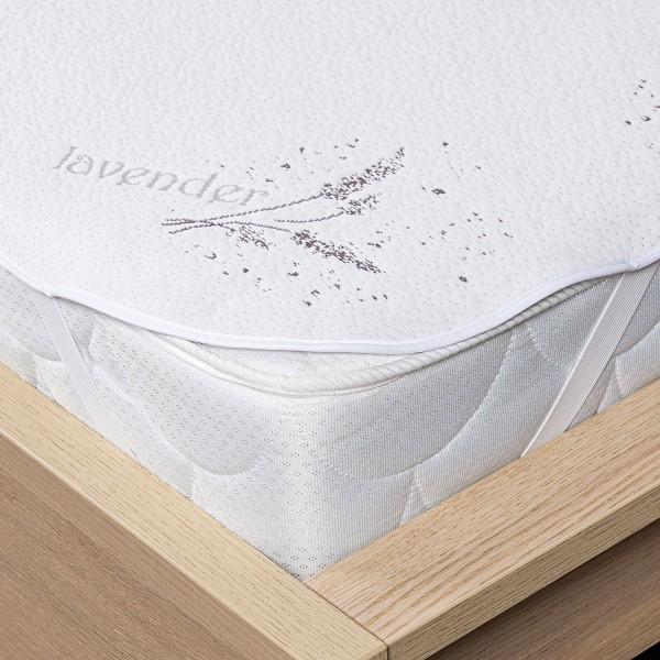 4home Lavender Nepriepustný chránič matraca s gumou, 160 x 200 cm