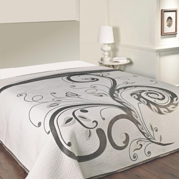 Forbyt Prehoz na posteľ Dominic black, 240 x 260 cm